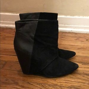 Leather/suede  Aldo booties great condition